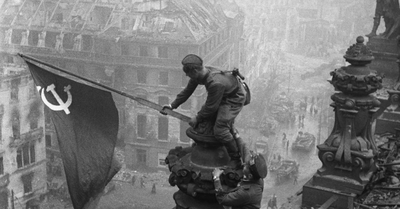 Картинки с днем победы флаг над рейхстагом